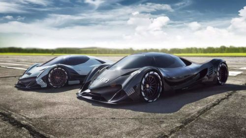 Devel Sixteen test car shown off on several videos