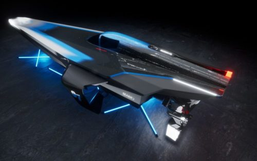 E1 racing: Updated Racebird electric foiling powerboat design revealed