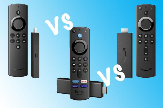 Amazon Fire TV Stick Lite vs Fire TV Stick (3rd Generation) vs Fire TV Stick 4K