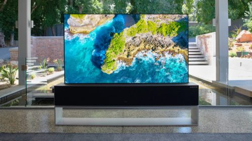 I just tried LG's $100,000 rollable OLED TV — here's what it's like