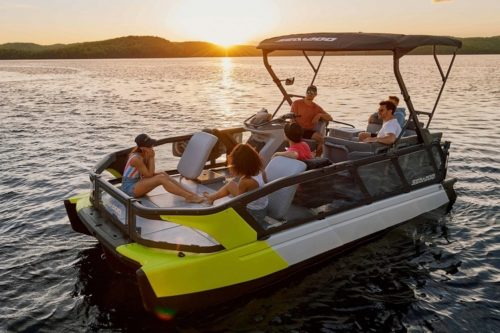 2022 Sea-Doo Switch Puts PWC Engine And Agility In A Large Pontoon Boat