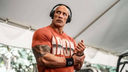The Rock has a new pair of workout headphones from Under Armour and JBL