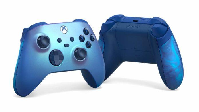 Aqua Shift Xbox controller