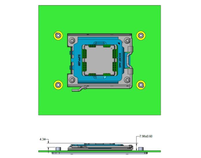 AMD Zen 4 Raphael LGA1718 Socket AM5
