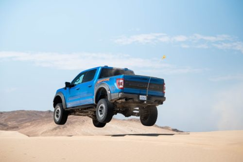 2021 Ford F-150 Raptor Chases the TRX