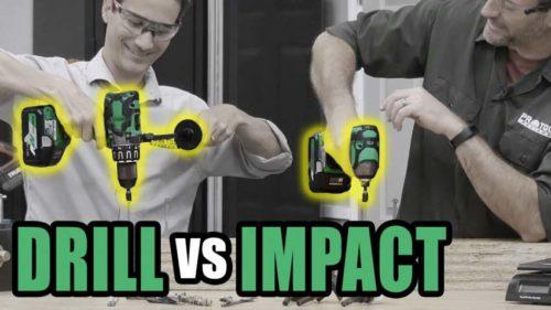 Hammer Drill vs Impact Driver Speed Testing