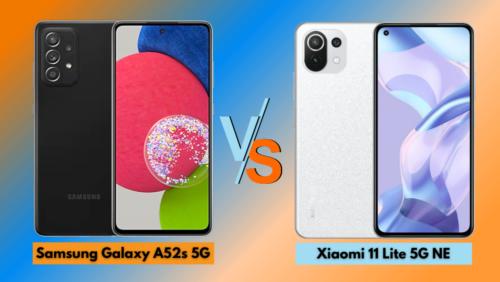 Samsung Galaxy A52s 5G vs Xiaomi 11 Lite 5G NE: Specs Comparison