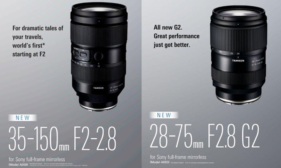 Tamron 35-150mm f/2-2.8 & 28-75mm f/2.8 Lenses