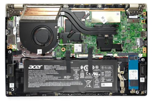 Inside Acer Swift X (SFX14-41G) – disassembly and upgrade options