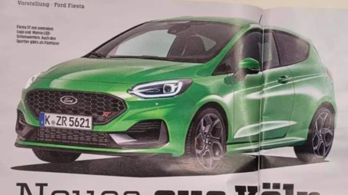 2022 Ford Fiesta ST facelift leaked