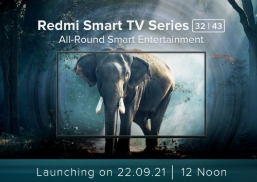 32-inch and 43-inch Redmi Smart TVs scheduled for September 22 launch