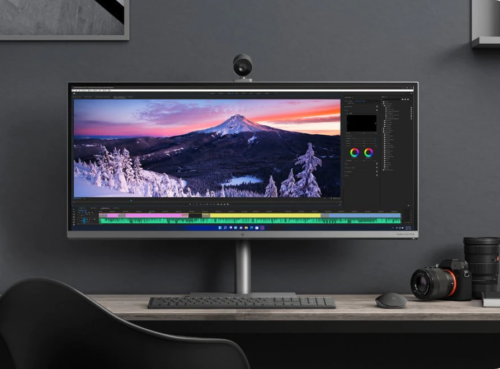 HP Envy 34 inch All-in-One Desktop PC presented with an Intel Core i9 desktop processor and an NVIDIA GeForce RTX 3080 GPU