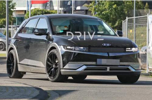 2023 Hyundai Ioniq 5 N spy photos: Performance electric SUV hits the track