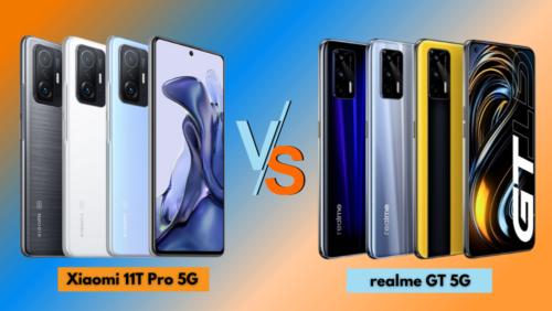 Xiaomi 11T Pro 5G vs realme GT 5G: Specs Comparison