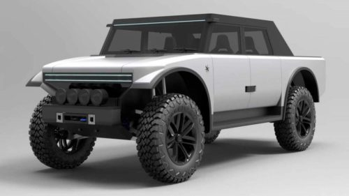 Fering Pioneer is an electric SUV with a range-extender biodiesel engine