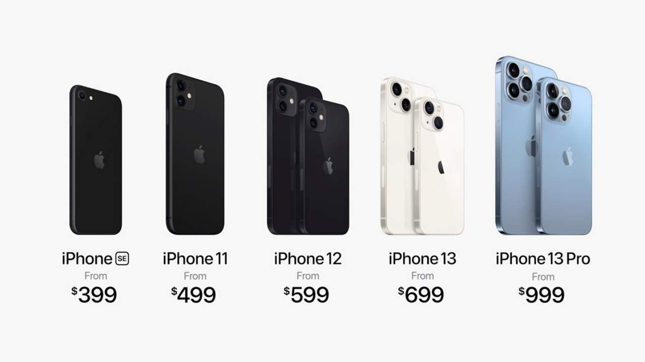 Apple 2021 iPhone range
