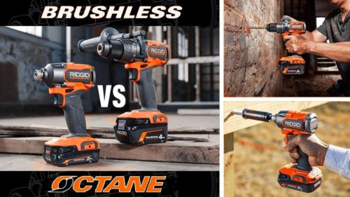 Ridgid Brushless vs Octane Drill and Impact Driver Video Review