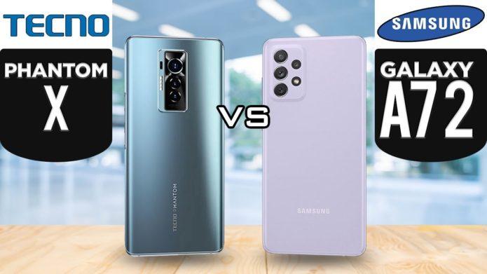 TECNO Phantom X vs Samsung Galaxy A72