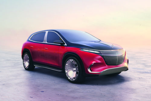 Mercedes-Maybach EQS Concept Hints at Bright Electric-SUV Future for the Brand