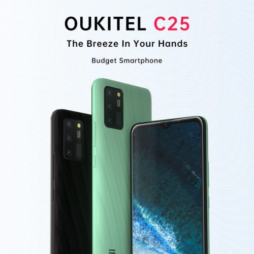 Oukitel C25 powered by Tiger T310 SoC, 4GB RAM and 5,000mAh battery launched in China