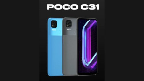 POCO C31 launched in India with a fingerprint sensor, 5,000mAh battery, and more