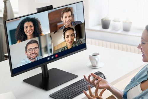 Samsung Webcam Monitor S4 Streamlines Your Home Office By Packing Everything You Need For Video Meetings