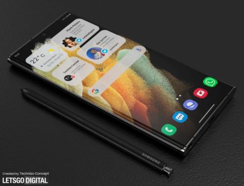 Latest Samsung Galaxy S22 Ultra renders depict water drop camera design