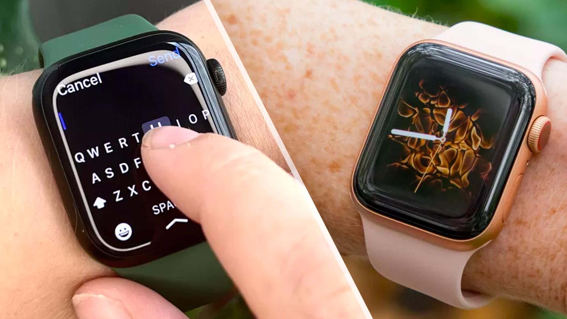 Apple Watch 7 vs Apple Watch 4