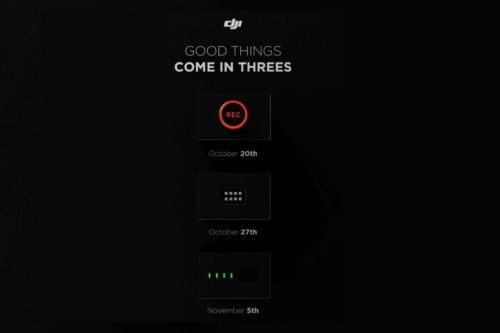 DJI teases three big products on the horizon