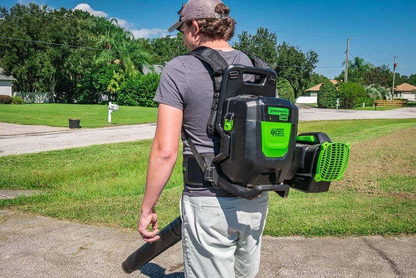 Greenworks 60V X-Range Backpack Blower