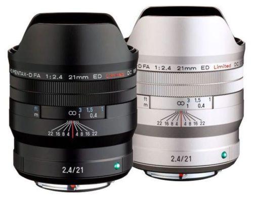 Ricoh Announces HD PENTAX-D FA 21mm f/2.4 ED Limited DC WR Lens