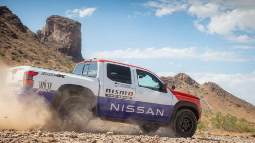 Nissan Frontier PRO-4X in vintage livery to compete at the 2021 Rebelle Rally