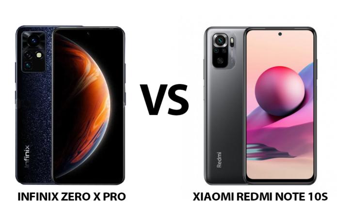 Infinix ZERO X Pro vs Xiaomi Redmi Note 10S