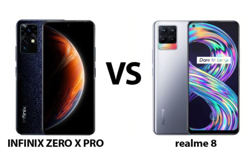 Infinix ZERO X Pro vs realme 8: Specs Comparison