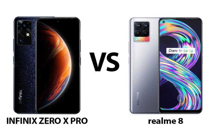 Infinix ZERO X Pro vs realme 8