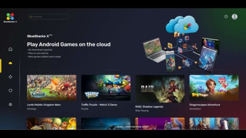 BlueStacks X streams Android games from the cloud to PCs and Macs