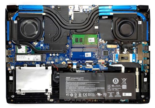 Inside Acer Predator Helios 300 (PH317-55) – disassembly and upgrade options